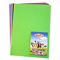 Carton colorat A4, 250 gr/mp, 10 coli, diferite culori