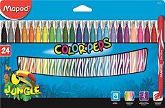 Set carioci Color Peps Jungle Maped, 24 buc