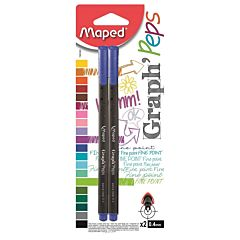 Fineliner Maped Graph'Peps 2 buc /set albastru blister