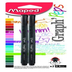 Fineliner Maped Graph'Peps 2 buc /set negru blister