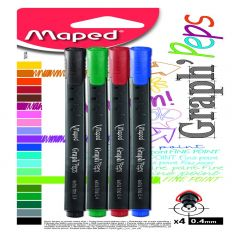 Fineliner Maped Graph'Peps 4 buc /set blister