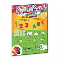 Hartie glasata A4 12 culori/set, Colour Kids