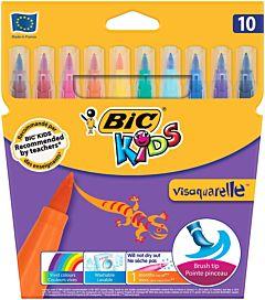 Markere colorate lavabile Visaquarelle 10 buc Bic