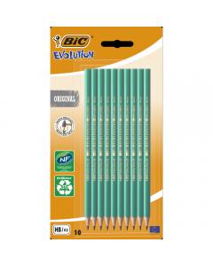 Creion grafit fara radiera BIC Eco Evolution, 10 bucati