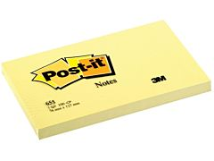 Set notite post-it 3M, 76 x 127 mm, 100 file, Galben