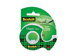 Banda adeziva invizibila cu dispenser Scotch Magic, 19 mm x 7.5 m