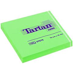 Notite Tartan neon 76x76 mm