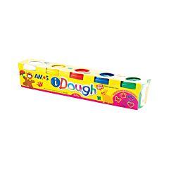 Plastilina 5 culori x 75gr / set , iDough Amos