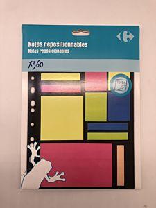 Notite adezive Carrefour, dimensiuni multiple, 360 buc