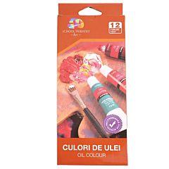 Set culori de ulei pentru pictura, 12 buc