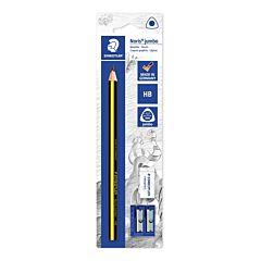 Creion Jumbo cu radiera si ascutitoare