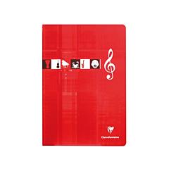 Caiet muzica A4 capsat 24 file, 10 portative, Clairefontaine