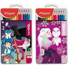 Creioane colorate Maped Tatoo 12 culori