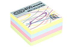 Rezerva cub din hartie, 80 x 80 mm, 70 g/mp, 400 file, Multicolor