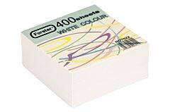 Rezerva cub din hartie, 80 x 80 mm, 70 g/mp, 400 file, Alb