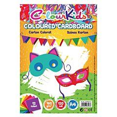 Carton A4 Colour Kids, 120 coli , 160 gr/mp, 12 culori