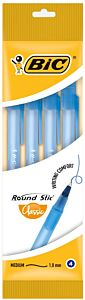 Pix Round Stic Classic Bic, varf mediu, pasta albastra, 4 buc