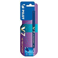 Roller Pilot V7 HI-TecPoint, varf 0.7 mm, Albastru