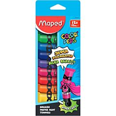 Tempera Maped 12 ml, 12 culori