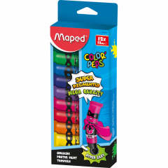 Tempera Maped 12 ml, 12 culori