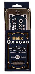 Trusa geometrie Helix Oxford, metal, 9 piese