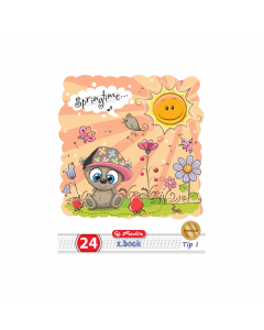 Caiet tip 1 A5 24 file Cute Animals Premium