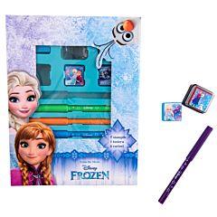 Set creativ stampile si carioci, Frozen