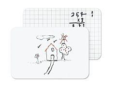 Tabla alba/liniata Bi-Sil, sistem de prindere autoadeziv, marker inclus, format A4