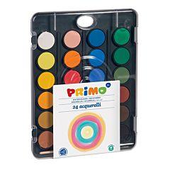 Acuarele cu pensula si capac-paleta de amestec Morocolor, diametru culori 30 mm, 24 culori
