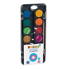 Acuarele cu pensula si capac-paleta de amestec Morocolor, diametru culori 30 mm, 12 culori