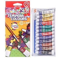 Set tempera ColourKids, 6ml/tub, 12 buc