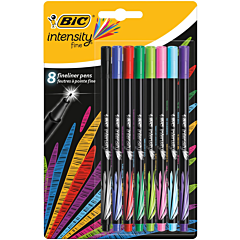 Fineliner Intensity, set 8 bucati, multicolor, Bic