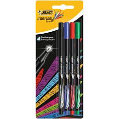 Set Fineliner Intensity BIC, varf 0.8 mm, 4 bucati