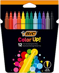 Markere de colorat Color Up Bic, 12 culori/cutie
