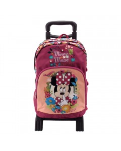 Ghiozdan troller 3D, clasele 1-4, Minnie Mouse