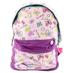 Ghiozdan Teens Canvas violet-multicolor Fly Butterfly