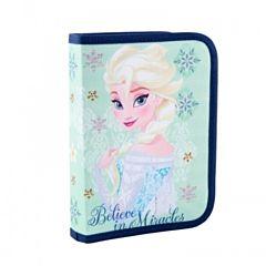 Penar echipat Frozen, 24 piese, un fermoar si 2 flapsuri, material textil, Multicolor