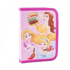 Penar echipat Princess, 24 piese, un fermoar si 2 flapsuri, material textil, Multicolor