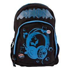 Ghiozdan Teens Soundwave, negru-albastru, Oxigen