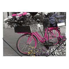 Mapa plastic, inchidere cu elastic, design Bicicleta