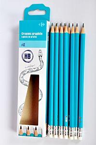 Set 4 creioane HB cu guma Carrefour