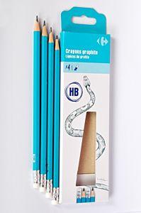 Set 12 creioane HB cu guma Carrefour