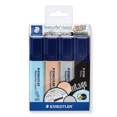 Set markere evidentiatoare Textsurfer, culori vintage, 4 buc/set