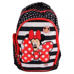 Ghiozdan clasele 1-4, rosu, Minnie Mouse