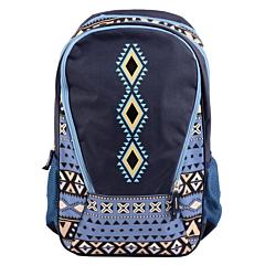Ghiozdan Teens albastru, Tribal, Pigna