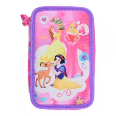 Penar neechipat, 3 fermoare, roz, Disney Princess