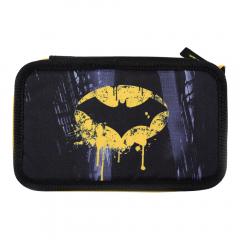 Penar neechipat 3 fermoare, negru, logo Batman