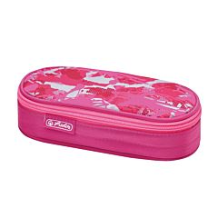 Penar necessaire Be.Bag, forma ovala, inchidere cu fermoar, 21.5 x 9 x 6 cm, poliester, motiv Camouflage Pink