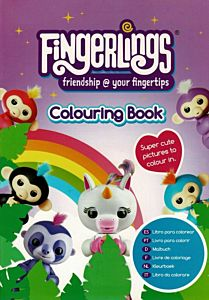 Carte de colorat Fingerlings