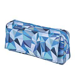 Penar necessaire cu 2 compartimente, 21 x 11 x 5.5 cm, motiv Wild Animals, Albastru